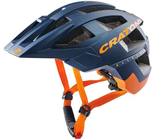 Cratoni Casco de bicicleta de montaña Allset (azul y naranja, S/M (54-58 cm)