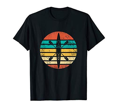 Retro Kajak Sport Geschenk I Kanu Kayak Kajaker T-Shirt