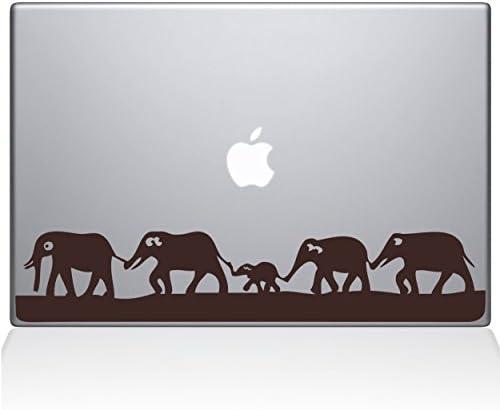 The Decal Guru Elephant March MacBook Decal Vinyl Sticker 13 MacBook Pro 2016 Newer Brown 0152 product image