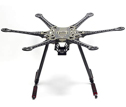 FPVDrone S550 Hexacopter Frame Kit 6-Axis Drone Flame with Unflodable Carbon Fiber Landing Gear