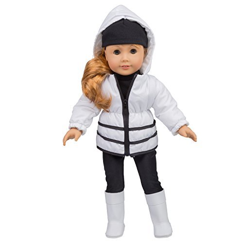 Dress Along Dolly Winter Snow Outfit for American Girl & 18