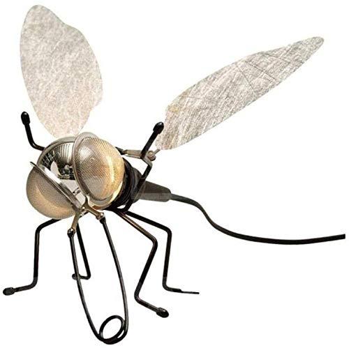 Iluminación de pared CreativeMetal Forma de insecto Lámpara de pared Hermosa iluminación de pared elegante con interruptor y cable y enchufe Color A