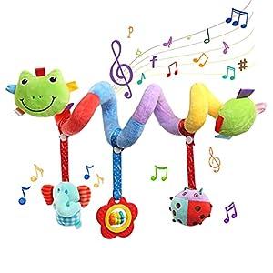 BelleStyle Juguetes Colgantes para Bebé, Cochecito de Bebé Juguetes de Cuna, Juguetes para Colgar, Juguetes de Cochecitos de Bebé en Espiral, Colgando Sonajeros Juguetes de Peluche