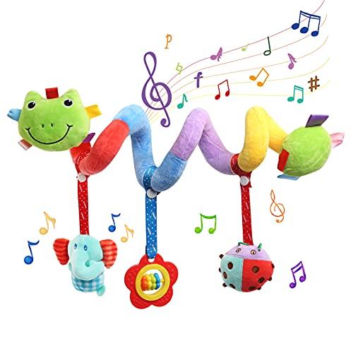 BelleStyle Bambino Passeggino Giocattoli, Spirale Passeggino Spirale di attività per Passeggino, Giocattoli da Appendere con attività a Spirale per Bambini, Carrozzina o Culla appesi Giocattoli
