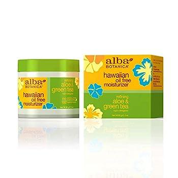 Alba Botanica Hawaiian Aloe & Green Tea Oil-Free Moisturizer 3 Ounce  Pack of 2