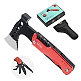 RoverTac Multitool Camping Accessories Survival Gear Unique Gifts for Men Dad Husband Boyfriend 11 in 1 Upgraded Multi Tool with Lockable Hammer Knife Saw Screwdrivers Bottle Opener Durable Sheath