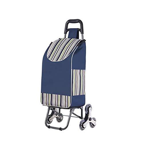 CXD Einkaufstrolley Extra Große Reifen,Abnehmbare Regenfeste Tasche Aufhängung Für Den Einkaufswagen Klappbarer Shopper Einkaufshilfe Handwagen,1