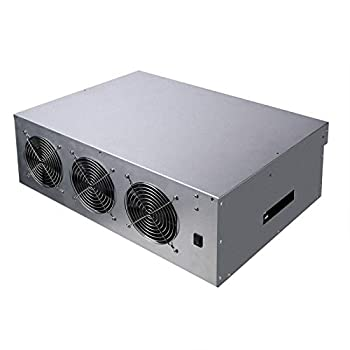 Gpu Miner Mining rig Machine System for Mining ETH Ethereum,8 GPU Miner Including 55mm Slots Distance Motherboard CPU SSD RAM Case with Cooling Fans Without PSU