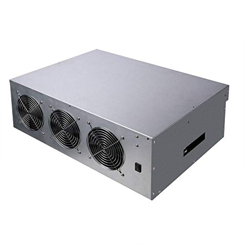 Gpu Miner Mining rig Machine System for Mining ETH Ethereum,8 GPU Miner Including 55mm Slots Distance Motherboard, CPU, SSD, RAM, Case with Cooling Fans(Without PSU)