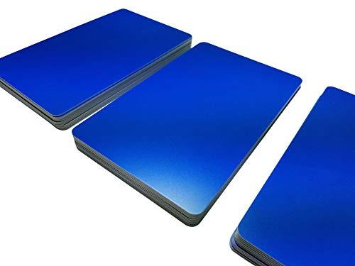 Premium Plastikkarten | PVC Karten BLAU MATT | 1-100 Stück | Blanko Rohlinge | NEU! (25)