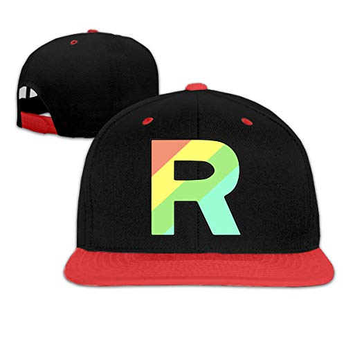 Lsjuee Team Rocket Rainbow Gorra de bisbol Unisex Popular de Hip Hop