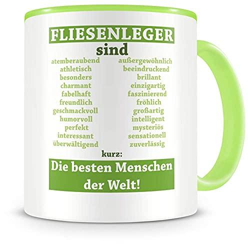 Taza de café con diseño de azulejos (330 ml), color verde