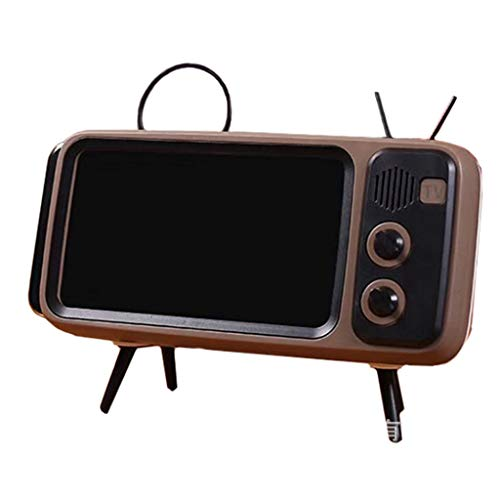 Purchase WHER Wireless Bluetooth Speakers with Vintage Retro TV Style and Portable Mobile Phone Dock...