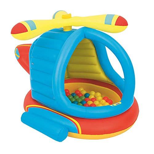 Piscina Inflable, Helicóptero de Sombra Inflable Palmetazos Pool140times; 127times; los 89CM del bebé Fold Bañera Fit Ball Pool Summer Garden Agua Juegos Juguete WTZ012