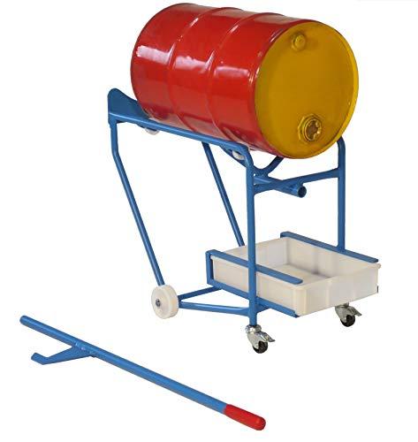 Fasskipper für 100 L Fässer Fasskarre Fass - Kippvorrichtung mit Hebelstange + Tropfwanne