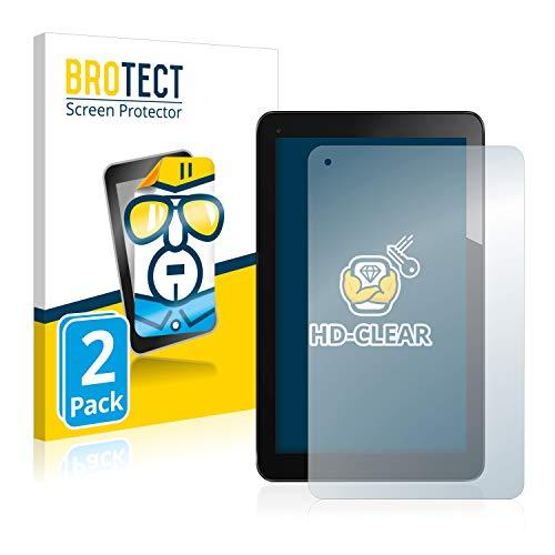 BROTECT Schutzfolie kompatibel mit Odys Lux 10 (2 Stück) klare Bildschirmschutz-Folie