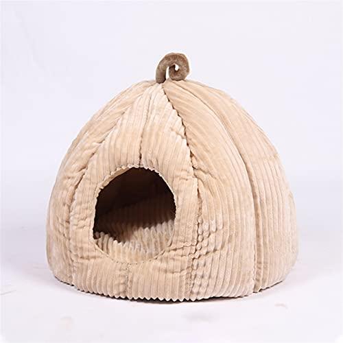 QWEQWE Mascota Gato Cueva Cama Interior Gatito casa Calentamiento para Perros de Gato Nido Collapsible Lindo Cachorro Alfombrillas durmiendo (Color : Pink, Size : M01)
