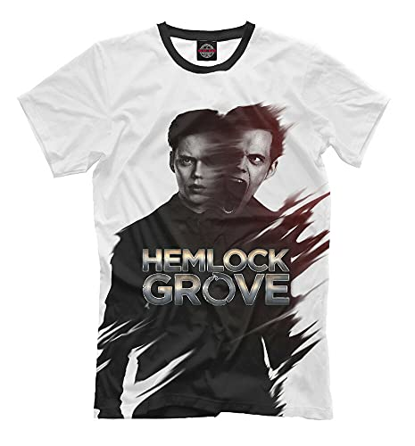 Hemlock Grove T-Shirt Colour TV Series Bill Skarsgård Istvan Günther White 3XL
