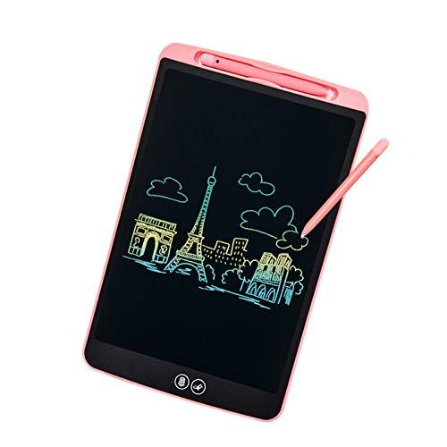 IDEASY Actualice la Tableta de Escritura LCD de Borrado Parcial y Completo de 12 Pulgadas, Almohadilla de Escritura LCD para Niños para la Escuela, el Hogar y la Oficina (Rosa)