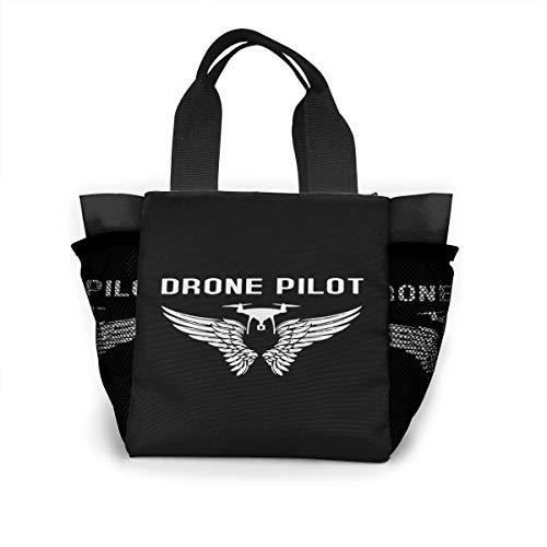 Neuken met aardappelen vrouwen draagbare lunchtas tassen geïsoleerde lekvrije thermische koeler doos voor school werk picknick Eén maat Drone-piloot
