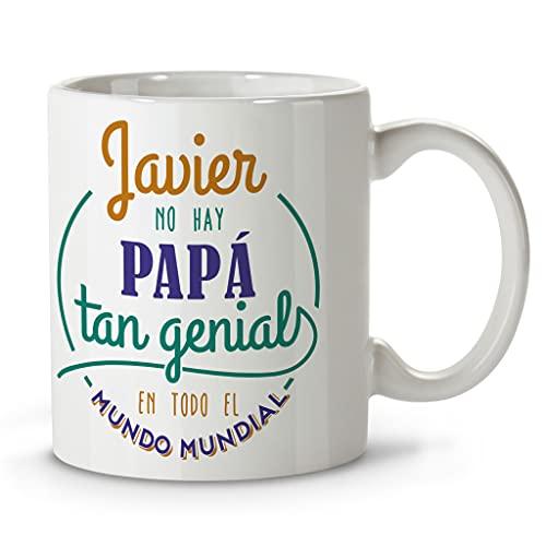 LolaPix Taza Día del Padre. Regalos Personalizados con Nombre y Texto. Tazas con Frases Originales. Genial Naranja