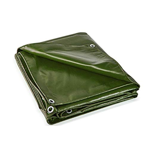 GOUDU Lona Verde, 550 Cubierta De Lona De Suelo Resistente E Impermeable Cubierta para Camping Que Acampa Al Aire Libre C/Ojales 4MX3M