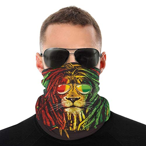 Nother Gafas de sol Dreadlocks Reggae Windbreak Bandana bufanda lavable antipolvo, pasamontañas cara boca