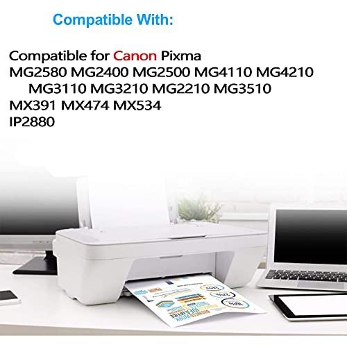 RICR Reemplazo de Cartucho de Tinta Compatible 140XL 141XL para Canon PG-140XL CL-141XL, Fits para Canon PIXMA IP2880 MG2580 MG2400 MG2500 MG4110 MX391 MX474 MX534 Set