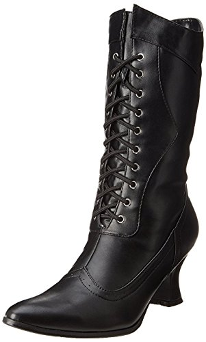 Ellie Shoes Women's 253 Amelia Victorian Boot, Black Polyurethane, 9 M US