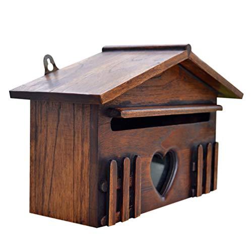 VOSAREA Holz Briefkasten Vorschlag Briefkasten regendicht Wand-Postfächer für Home Company Dekor