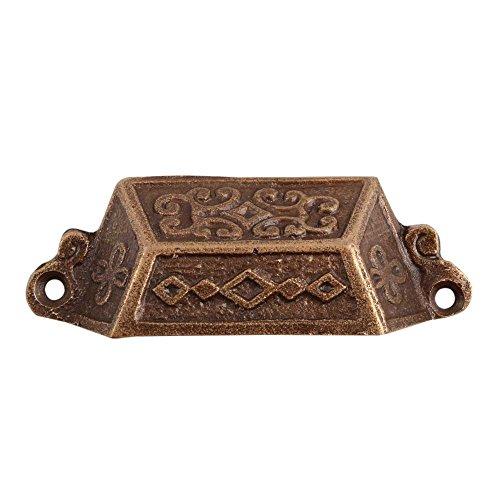 """Indianshelf hecho a mano D hierro asas tiradores de puerta Dresser cajón pomos, hierro, envejecido, 8 Knobs of 3.5"""""""