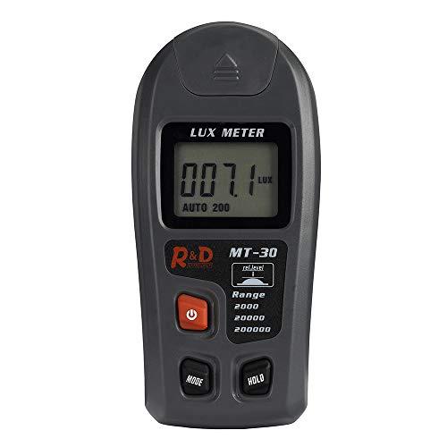 ecronoo Medidor Iluminación Fotómetro Digital, Luxómetro Portátil con Unidades Conmutables (Lux & FC) y Modos de Medición (Normal, Media, Máxima), Rango de Medición 0.1 – 200000 Lux y 0.01 – 20000 FC