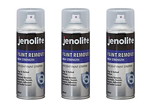 Jenolite Lackentferner-Spray, industrielle Stärke, für Ziegel, Metall, Holz, Beton, Klebstoffe, Lacke, 400 ml, 3 Stück