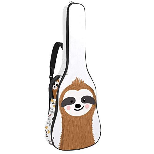 Funda para guitarras acústicas tela Oxford impermeable estilo de moda con bandolera y asa para guitarras clásicas Pereza de dibujos animados 42.9x16.9x4.7 in