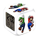 R-timer New Super Mario Anime Clock Alarm-LED-Licht Nachtlicht Zubehr fr Teenager (A)
