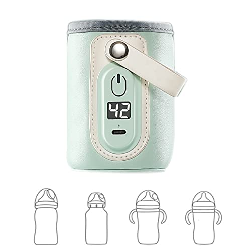 calienta biberones portatil usb-calentador de biberones coche-calentador de leche Materna para bebés-Termostato para calentar biberón Esterilizadores de Bib(Size:Straight type 60*90mm,Color:Verde)