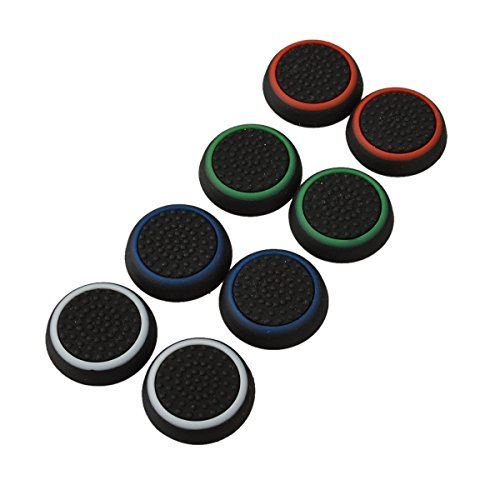 4 Pair / 8 Pcs Replacement Silicone Thumb Grip Stick thumbstick analogici Joystick Cap Cover per PlayStation PS4 / PS3 / Xbox One / Xbox 360/ Nintendo
