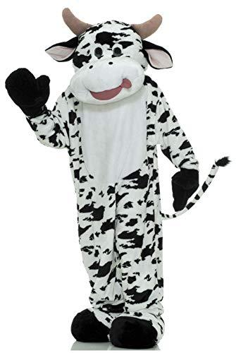 Forum Deluxe Plush Cow Mascot Costume, Black, One Size