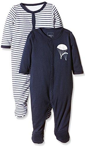 NAME IT Baby-Jungen NITNIGHTSUIT W/F NB B NOOS Schlafstrampler, Mehrfarbig (Dress Blues), 56 (2er Pack)