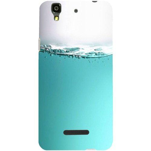 Casotec Half Fill Design Hard Back Case Cover for Micromax Yu Yureka AQ5510 / AO5510
