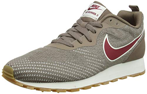 Nike Damen MD Runner 2 ENG MESH Laufschuhe, Mehrfarbig (Mink Brown/Red Crush/String 200), 38.5 EU