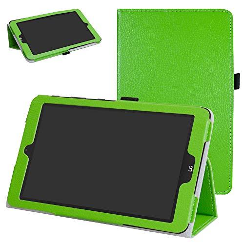 Mama Mouth PU Leder Folio 2-folding Ständer Cover mit Stylus Halterung für 20,3cm LG G Pad X II 8.0Plus T-Mobile V530Android 7.0Tablet grün grün