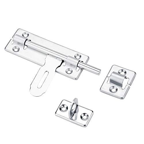 FTVOGUE roestvrijstalen deurgrendel, Security Home schuif barrel schroeven met hangslot gat meubilair deur gesp schuiflade sluiting deur lock latch