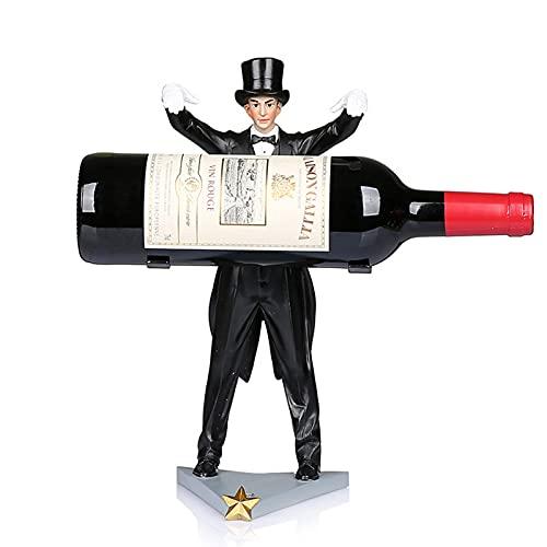 ZLASS Soporte de Vino, Resin MAGICE Tall TABE Table TABLETO Soporte de Botella de Vino, con Base Estable y Marco de Soporte de Metal, Utilizado para Regalos de decoración de Cocina en casa