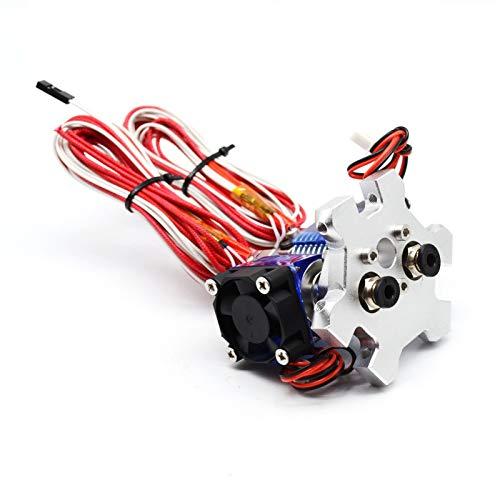 Stampante 3D V6 Headend Dual Head Extruder Dual Head Extruder con ugello da 0,4 mm 12 V 24V Ventola di raffreddamento e effettori di raffreddamento / Adatta per 1.75mm Filamento E3D V6 ( Size : 12V )