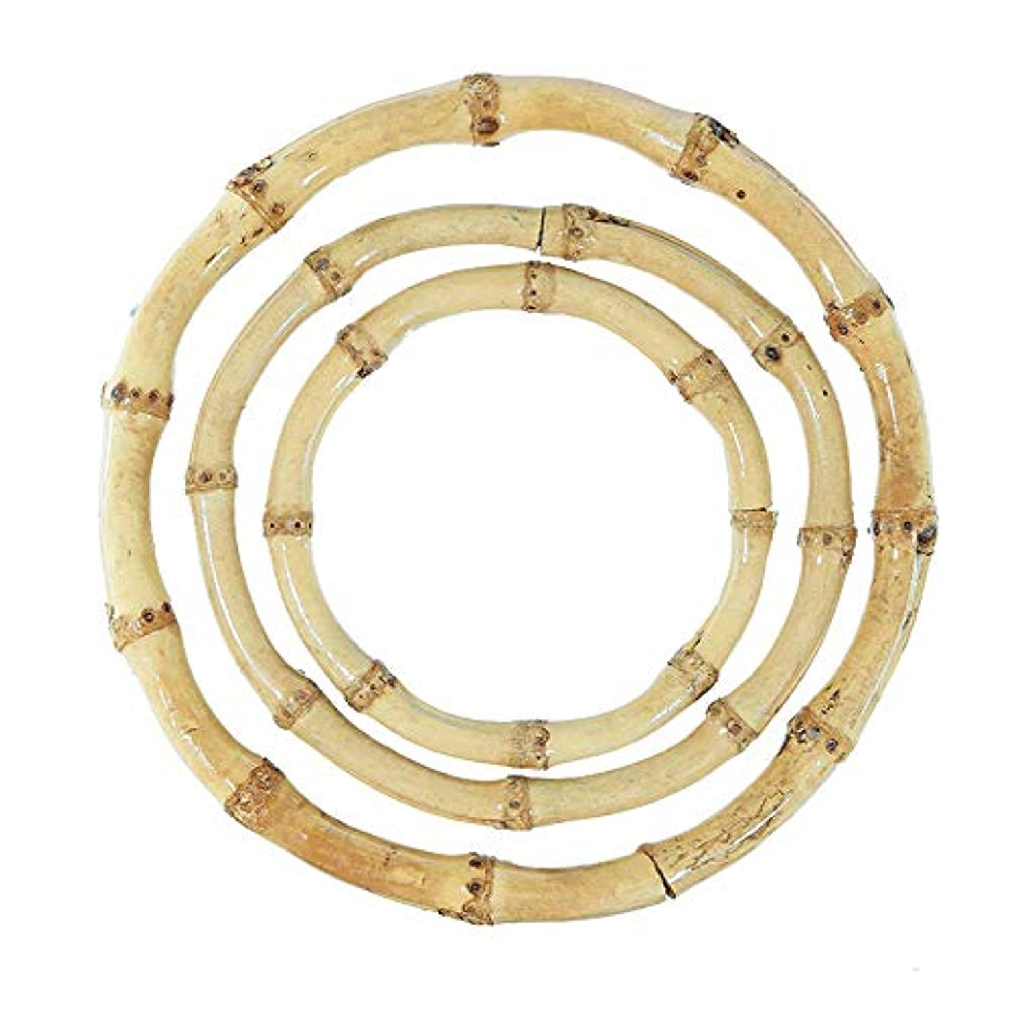 Pepperell Bamboo Craft Rings for Macrame 3 Pack Bundle 3.5