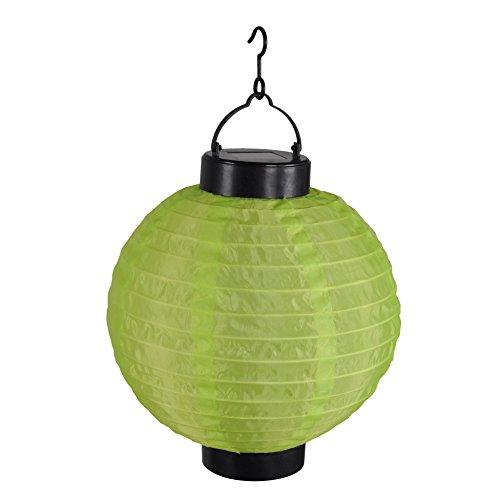 Homea 5ECL017VC Lanterne Chinoise Solaire, Plastique, Vert