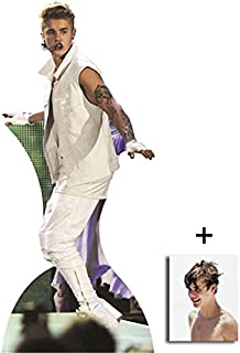 Fan Pack - Justin Bieber with Tattoos Lifesize Cardboard Cutout / Standee Includes 8x10 (20x25cm) Photo