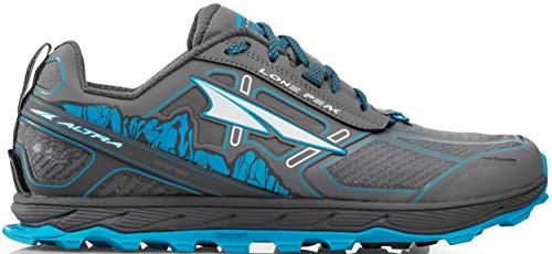 ALTRA Men's ALM1855L Lone Peak 4 Low RSM Waterproof Trail Running Shoe, Gray/Blue - 7 M US