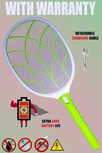 Viola Heavy Duty Mosquito Killer Racquet Bat with Powerful Battery and Warranty